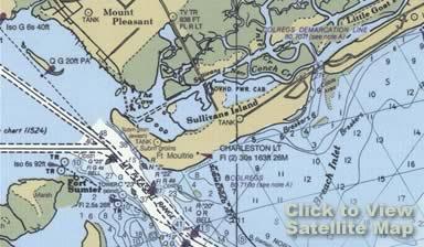 South Carolina Map Islands.Sullivans Island